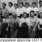 Выпускники 1957 года