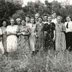 Последний выпуск старой школы 1951 года