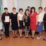 Коллектив учителей на юбилее школы