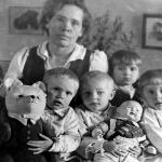 Воспитатель Захарова Ефросинья. 1947 год