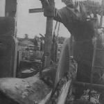Распиловка леса в колхозе им. В.И. Ленина.  1940-е гг.