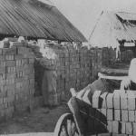 Цех кирпичного завода в колхозе им. В.И. Ленина.  1940-е гг.