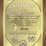 Диплом победителя 'Наука и исследование'
