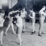 Боксёры на тренировке