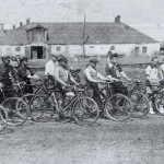 Велосипедисты на тренировке