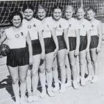 Женская волейбольная команда - чемпионы области. 1950 год
