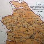 Ирская волость на карте Кирсановского уезда. 1903 год