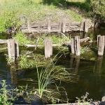 Остатки моста через реку Ира